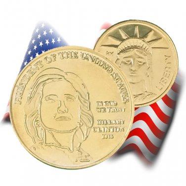 Hillary Clinton Presidential Gold Coin