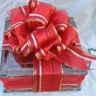 Red Candy Stripe Glass box