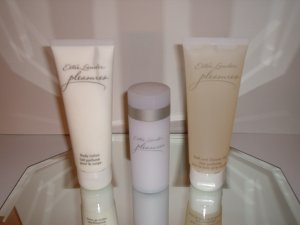 Estee Lauder Pleasures (Body Powder / Body Lotion / Bath and Shower Gel) Set