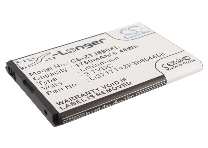 1750mAh Battery For ZTE U790, Jetpack 4G LTE, Hotspot 890L