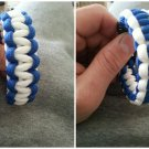 Reversible Blue and White Paracord bracelet.