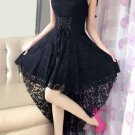 Elegant Lace Slash Neck Dovetail Dress For Women