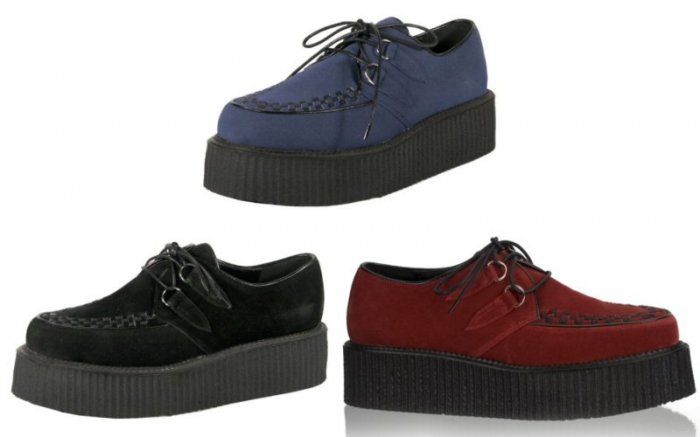 Men's Faux Suede Creeper Style Platform Shoes