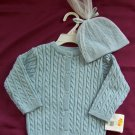 NWT Healthtex Cardigan Sweater & Hat Set Boys 6-9 mos