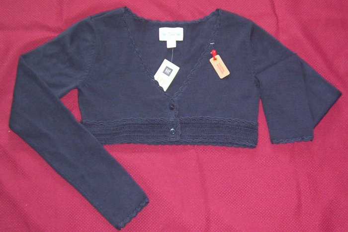 NWT  Gap Girls Navy Cardigan Sweater SHRUG Sz 12 XL