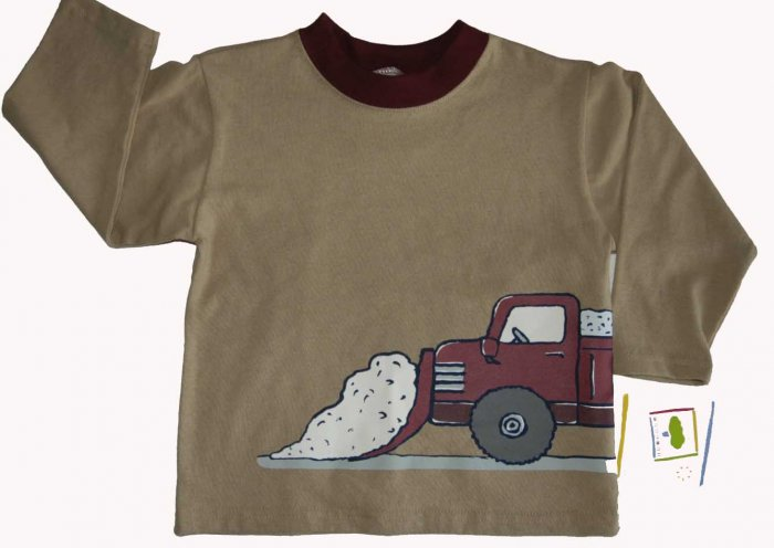 NWT Boys MULBERRIBUSH Tee Shirt Top Snow Plow Truck 2T