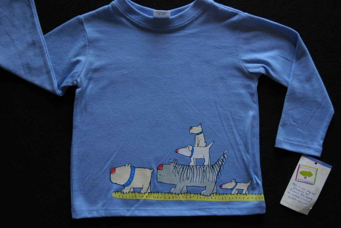 NWT Boys MULBERRIBUSH Tee Shirt Top Dog 12 M Fall