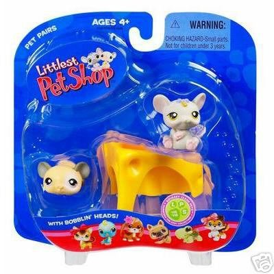 Littlest Pet Shop Mouse & Baby Rat with Cheese Little PetShop New