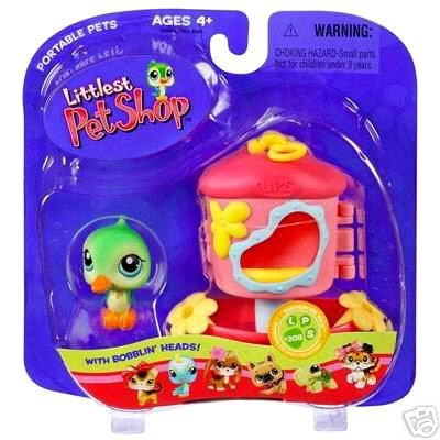 Littlest Pet Shop Hummingbird with Feeder Green Bird Little PetShop