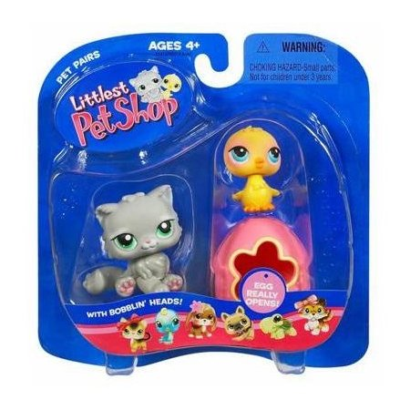 Littlest Pet Shop Grey Kitten with Chick & Egg Little PetShop