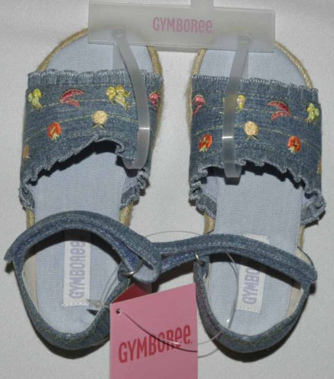 Gymboree BONJOUR PROVENCE Denim Girl Sandals 9 NWT
