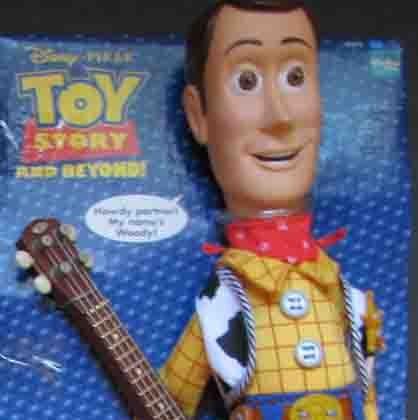 Toy Story Woody Pull String Talking Doll Guitar Hat New Disney