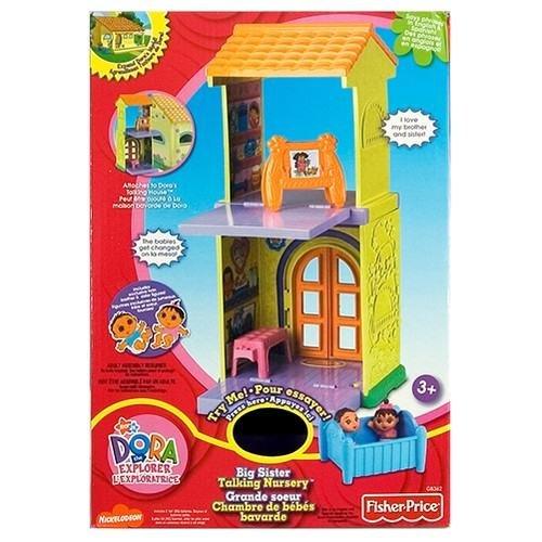 Dora the Explorer Talking House Nursery Add On Twins Crib