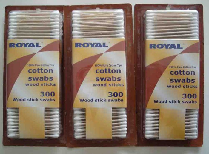 Wooden Q-Tips Cotton Swabs Wood Qtips Qtip 900 NEW 3 Boxes