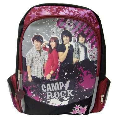CAMP ROCK Backpack Book Bag DISNEY Jonas Brothers Demi Lovato