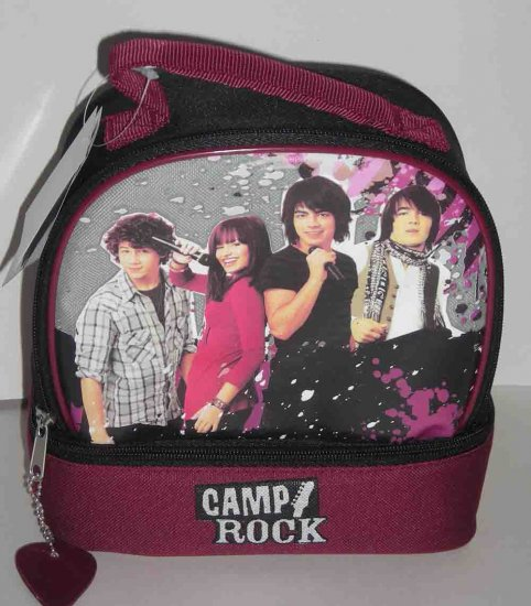 CAMP ROCK Lunchbox Lunch Bag DISNEY Jonas Brothers Demi Lovato