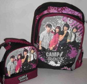 Disney CAMP ROCK Backpack Lunchbox Book Bag Jonas Brothers Lunch Box Girl