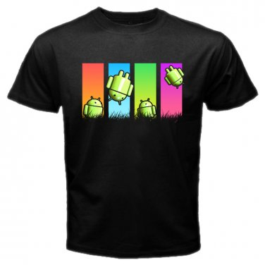 Colorful Printed Android T Shirt S to XXL