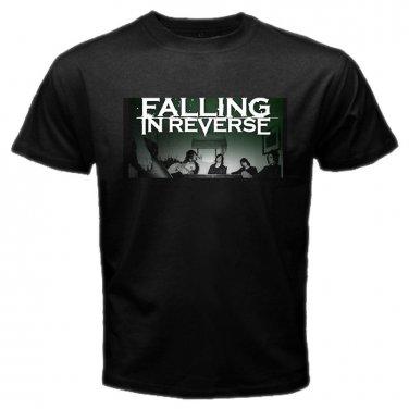 Falling In Reverse Member Photo Black T Shirt Emo Punk Rock Band S to XXXL