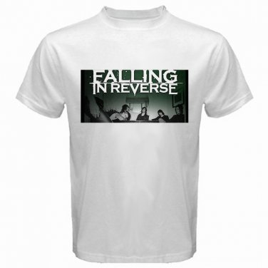 Falling In Reverse Member Photo White T Shirt Emo Punk Rock Band S to XXXL