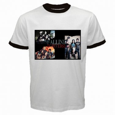 Falling In Revere Member Photo White Ringer T Shirt Emo Punk Rock Band S to XXL