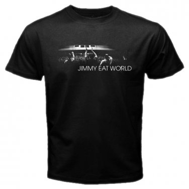 Jimmy Eat World Member Black T Shirt Emo Punk Rock Band S to XXXL