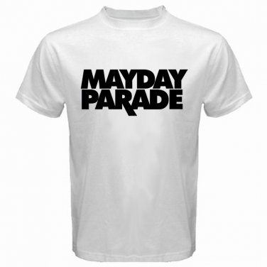 Mayday Parade Logo White T Shirt Emo Punk Rock Band S to XXXL
