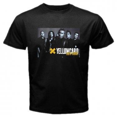 Yellow Card Member Black T-Shirt Emo Punk Rock Band S to XXXL
