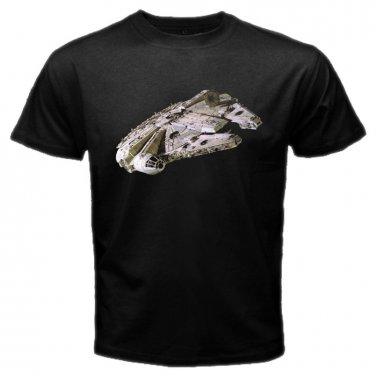 Star Wars Milenium Falcon Movie Space Jedi Skywalker The Force Awaken Mens T-Shirt S to XXXL