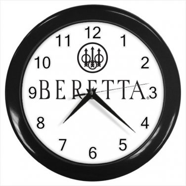 Beretta Firearms Logo Weapon Hand Gun 10 Inch Wall Clock Home Decoration