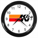 K&N Open Air Filter Tuner Tuning Car Racing Part  10 Inch Wall Clock Home Decoration