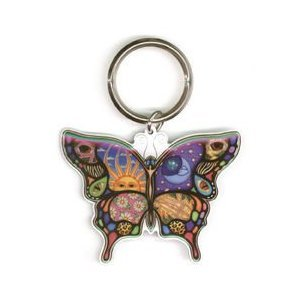 Dan Morris Celestial Day and Night Butterfly Keychain