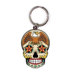 Sunny Buick - Eagle Sugar Skull - Metal Keychain