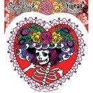 Dan Morris Flower Hat Sugar Skull Decal