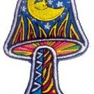 Dan Morris Artist Novelty Iron On Patch - Moon & Stars Mushroom Applique