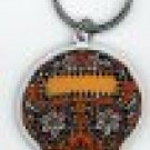Maryann Luera - Orange Sugar Skull - Metal Keychain