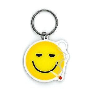 NSI - Smokin Smiley - Metal Keychain
