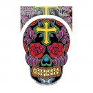 Sunny Buick - Rose Cross Sugar Skull - Sticker / Decal