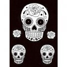 White sugar Skull stickers