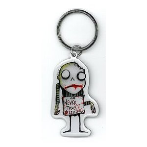 Agorables - Never Trust The Living Zombie - Metal Keychain