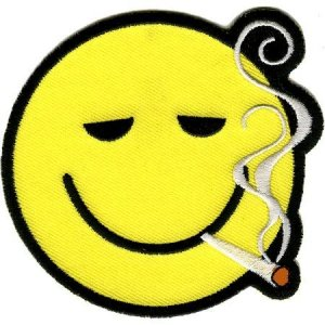 Smoking Smiley patch