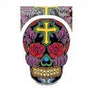 Sunny Buick - Rose Cross Sugar Skull - Sticker / Decal