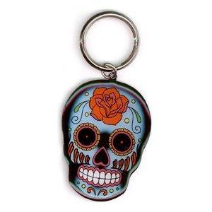 Sunny Buick - Rose Sugar Skull - Metal Keychain