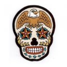 Sunny Buick - Eagle Sugar Skull - Embroidered Patch