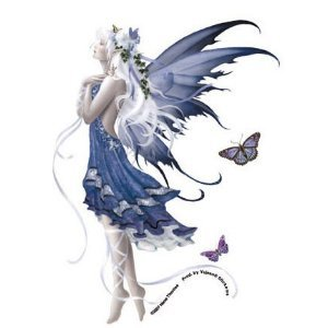 Blue Nocturne Fairy with Ivy and Butterfly Sticker/decal