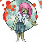Spooky Zombie Kids - cassandra - Zombie Girl STICKE Art by Frank Wiedemann  NEW