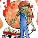 """Zombie Kids - DOUGLAS - Zombie Boy Sticker Art by Frank wiedemann 3.5""""x5""""  *NEW*"""