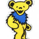 GRATEFUL DEAD DANCING BEAR PATCH YELLOW, ART BY GDP Inc, EMBROIDERED IRON ON NEW