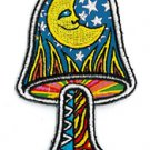 "DAN MORRIS CELESTIAL - MOON MUSHROOM - PATCH EMBROIDERED IRON ON 2""X3.25"" *NEW*"