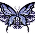 LARGE - DRAGON TRIBAL BUTTERFLY - STICKER CAR VINY DECAL ART BY NENE THOMAS *NEW